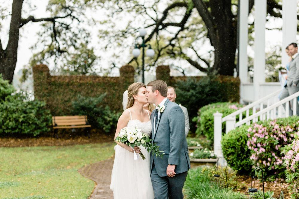 Morgan + Stephen: Rainy Wedding Day at the Kaminski House Museum, Georgetown | Palmetto State Weddings