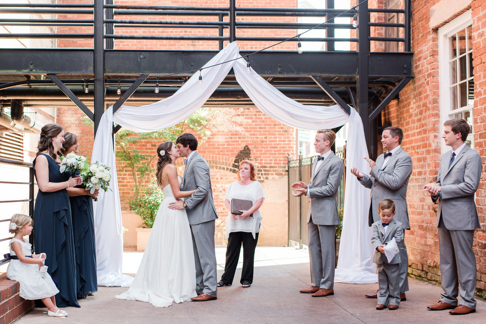 Kelly + Nick: Romantic Greenville Wedding at Larkin's on the River | Palmetto State Weddings