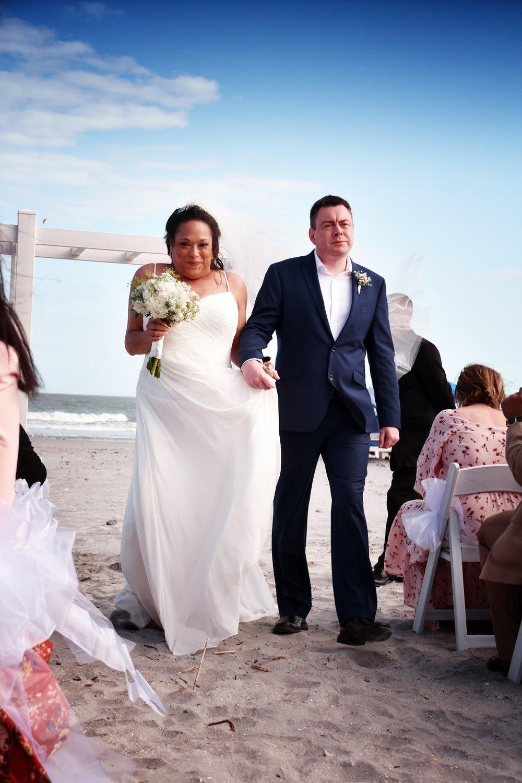 Jennifer + Gary: Sunny Folly Beach Wedding on the Sand | Palmetto State Weddings