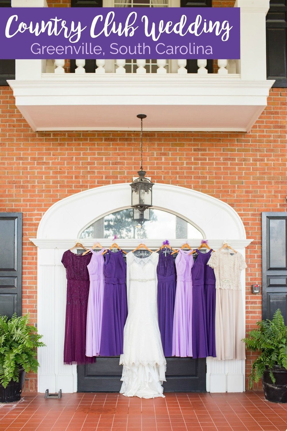 Dani + Sam: Purple-Inspired Country Club Wedding in Greenville | Palmetto State Weddings | Jessica Hunt Photography