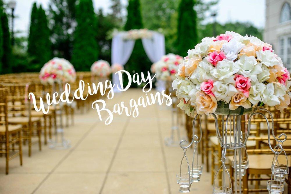 Wedding Day Bargains | Palmetto State Weddings