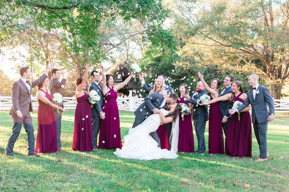 Megan + Caleb: Burgundy and Rose Barn Wedding at Wildberry Farm | Palmetto State Weddings