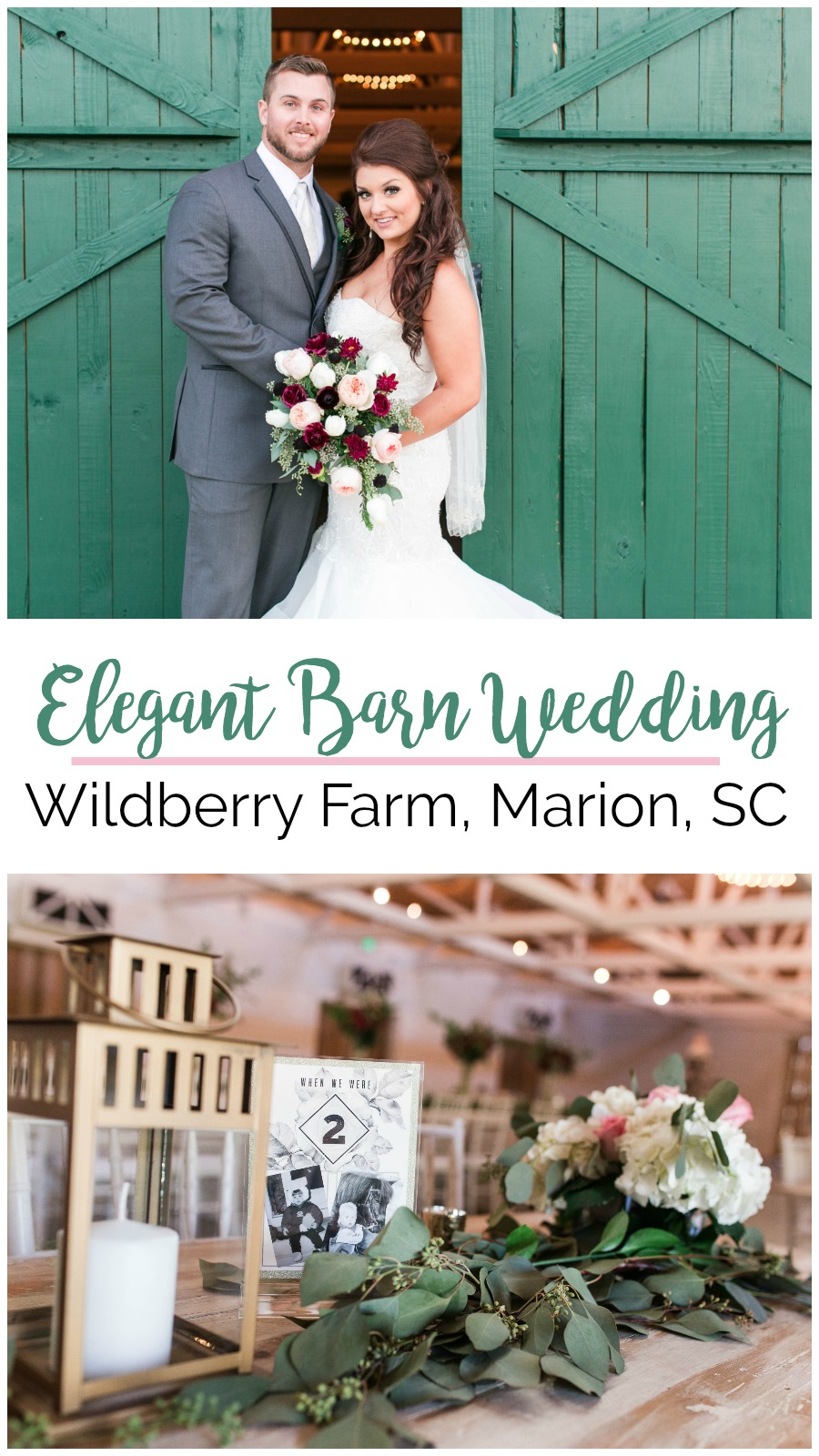 Megan and Caleb: Burgundy and Rose Barn Wedding at Wildberry Farm, Marion, South Carolina | Palmetto State Weddings | Sweet E Photography | Southern barn weddings | barn wedding inspiration