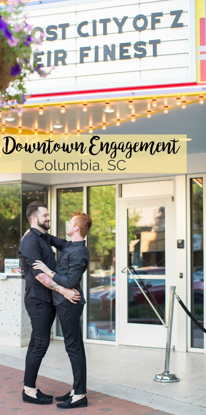 Daniel and Cameron: Sweet Summer Engagement Session in Downtown Columbia | Palmetto State Weddings | Jessica Hunt Photography | LGBTQ engagement session inspiration