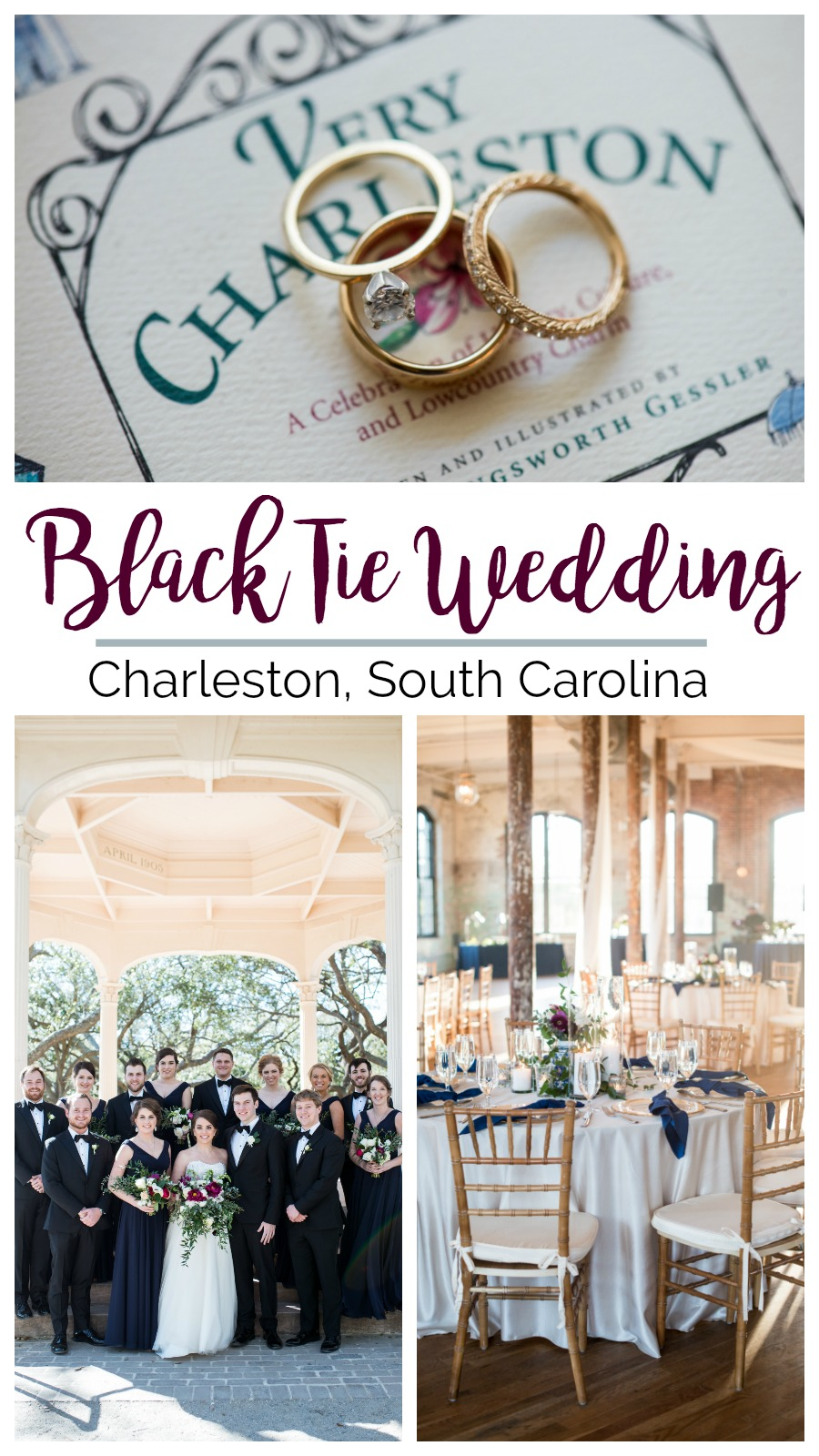 Kate and Heath: Black Tie Wedding at the Cedar Room in Charleston, South Carolina | Palmetto State Weddings | Maria Grace Photography