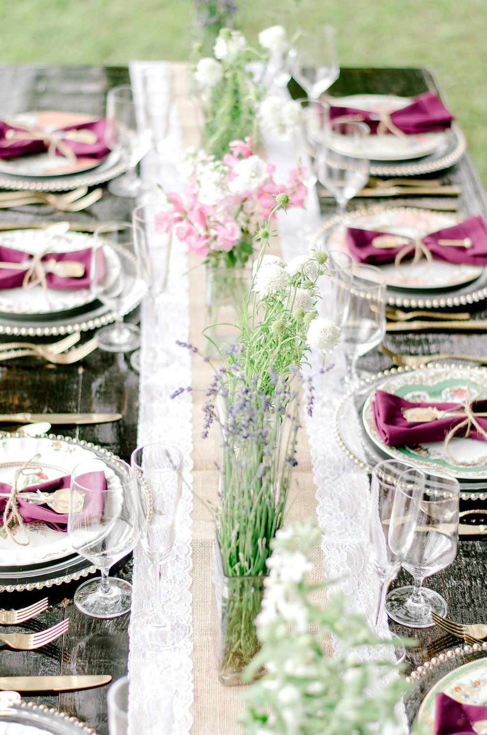 Lavender Farm Wedding Styled Shoot in Greenville County | Palmetto State Weddings