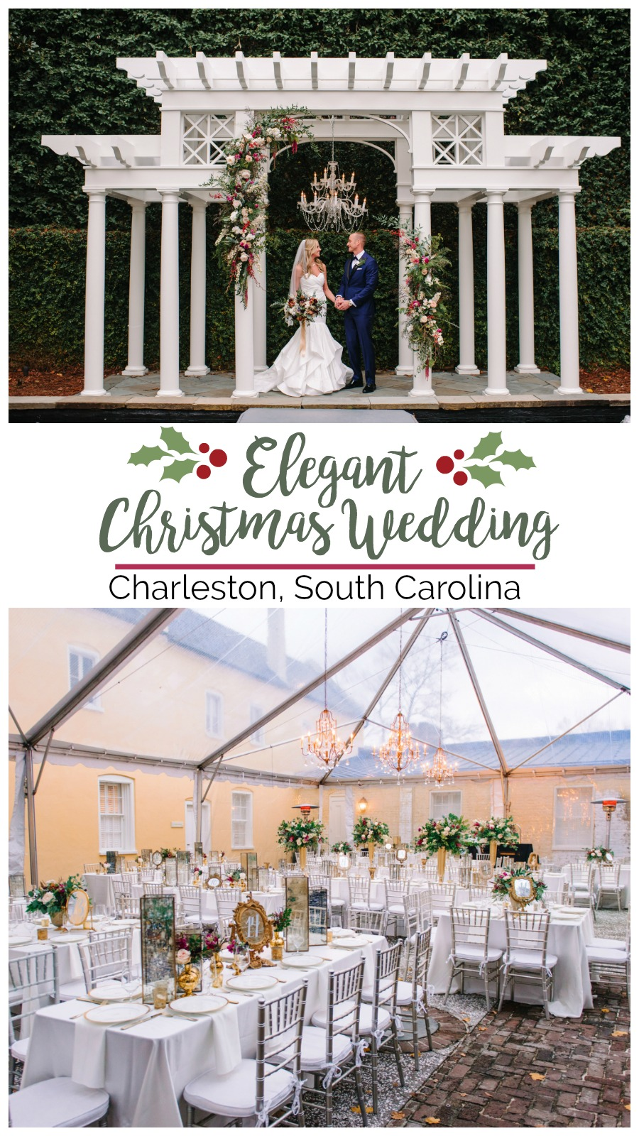 Kristen + Robert: Christmas-themed William Aiken House Wedding   Palmetto State Weddings   Pasha Belman Photography   elegant christmas wedding   gold Christmas wedding   holiday wedding inspiration