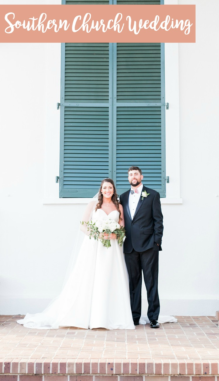 Hailey + Hunter: Southern Church Wedding in Conway, South Carolina | Palmetto State Weddings | traditional church wedding inspiration | Myrtle Beach wedding | Rebecca Hicks Photography