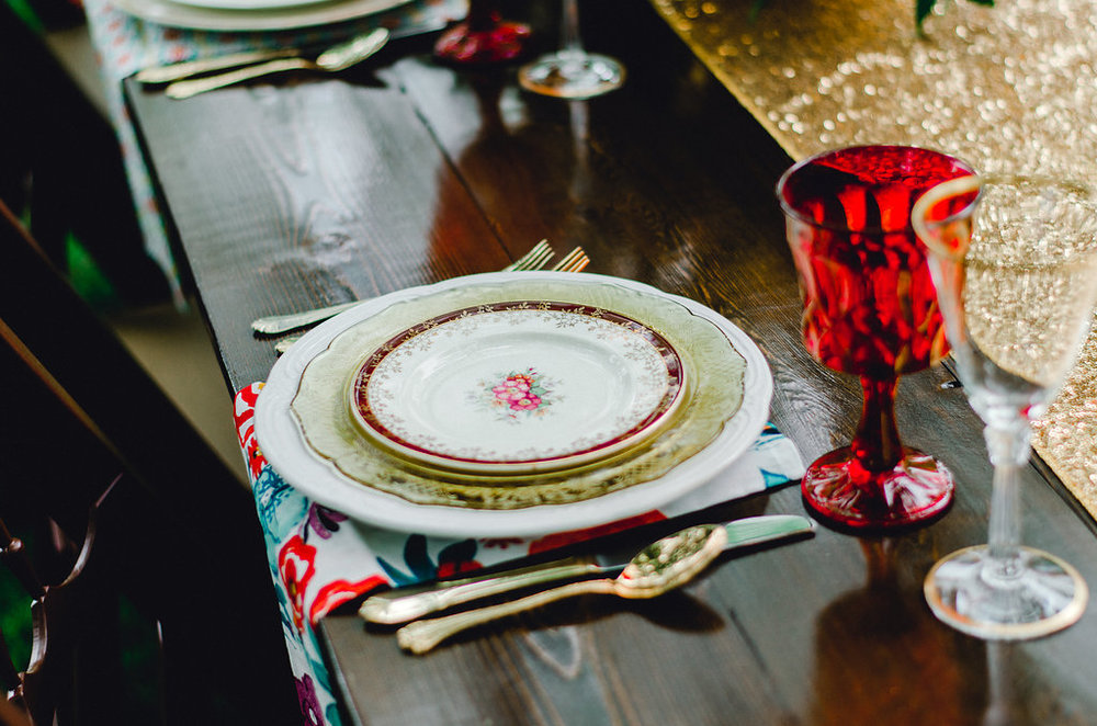 Burgundy and Gold Romantic Styled Shoot at Tirzah Farm | Palmetto State Weddings