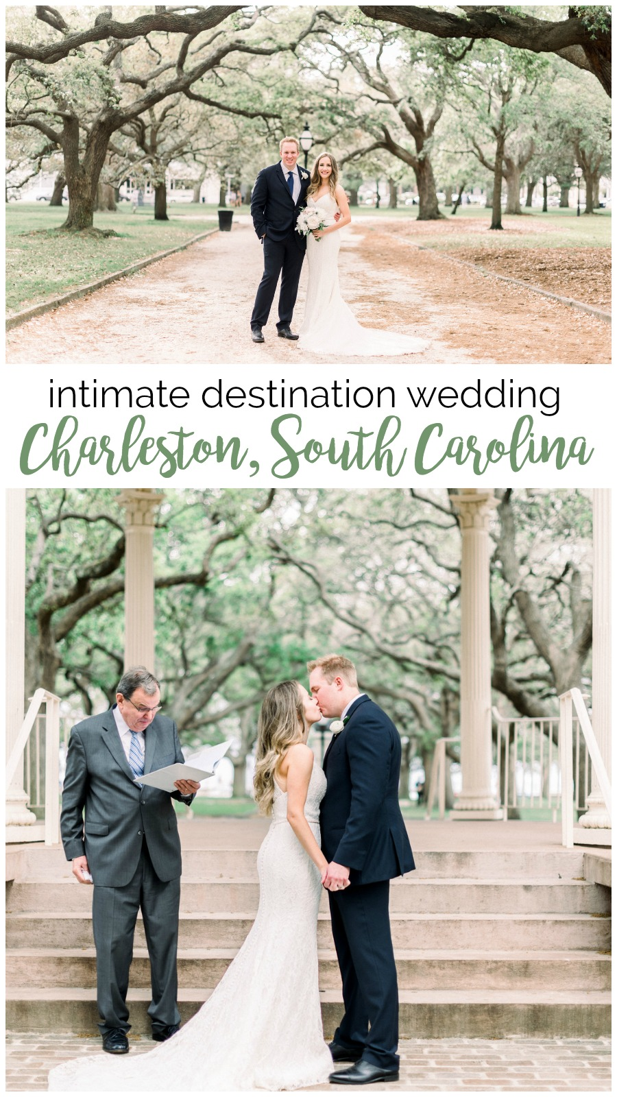 Sara and Gabe: Intimate Charleston Wedding at White Point Garden | Palmetto State Weddings | Hannah Hicks Photography | destination weddings in Charleston | Southern wedding inspiration | Charleston wedding venues