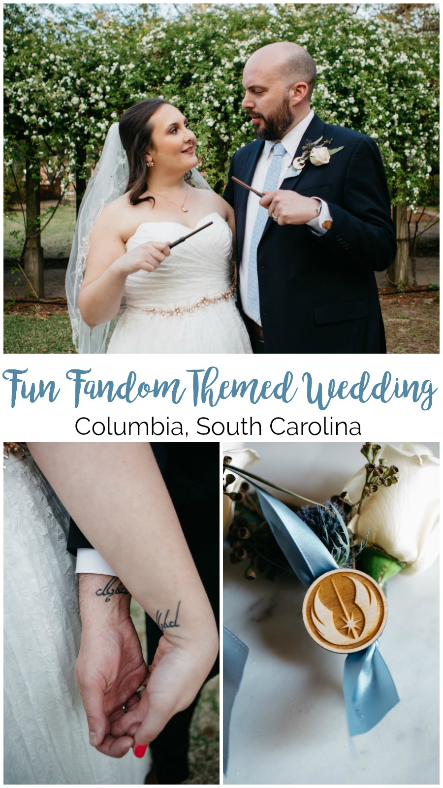 Allie and Jay: Star Wars Themed Lace House Wedding, Columbia, SC | Palmetto State Weddings | Columbia wedding venues | Harry Potter wedding photography