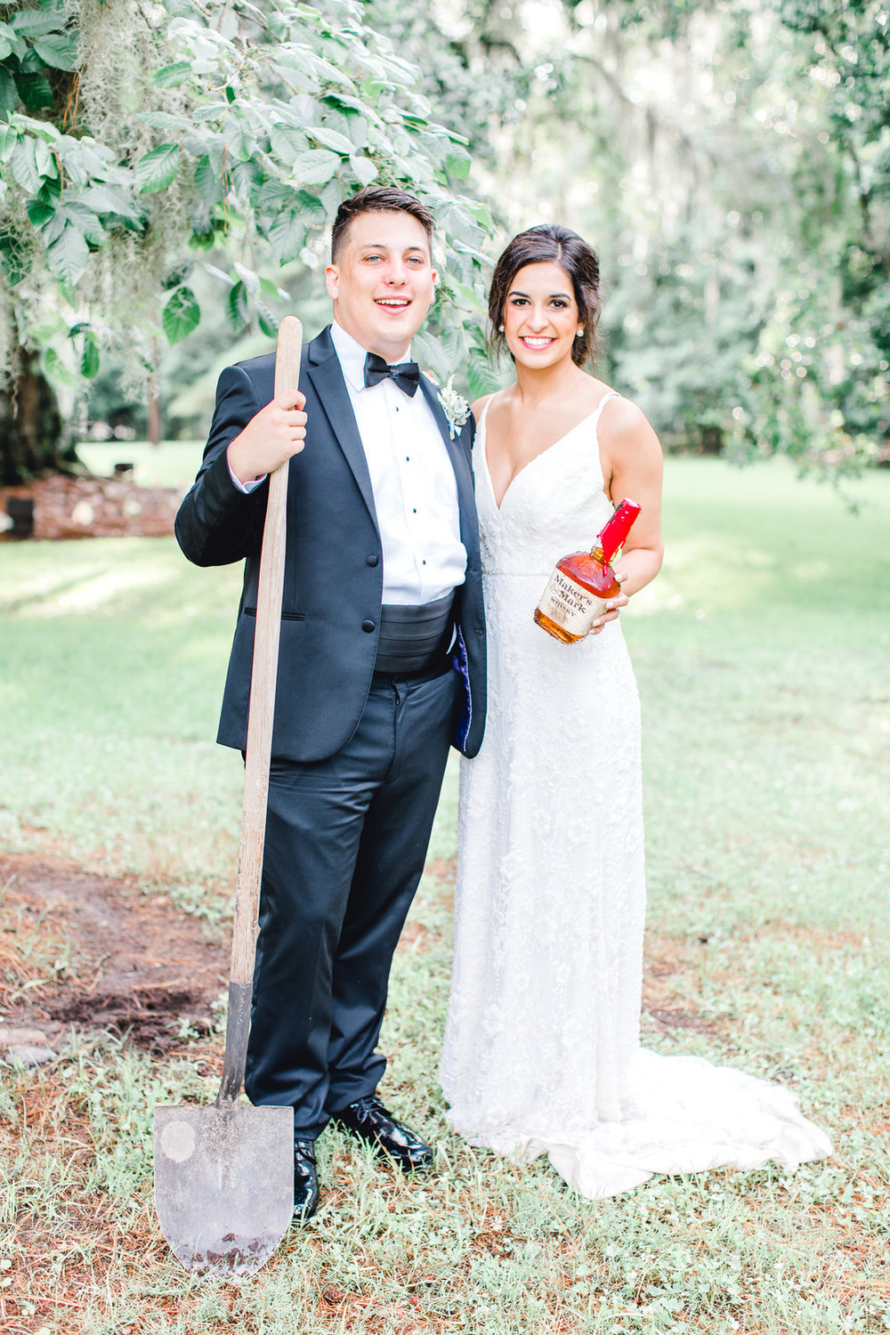 Southern Traditions: Dusty Blue Wedding Styled Shoot at Magnolia Plantation | Palmetto State Weddings