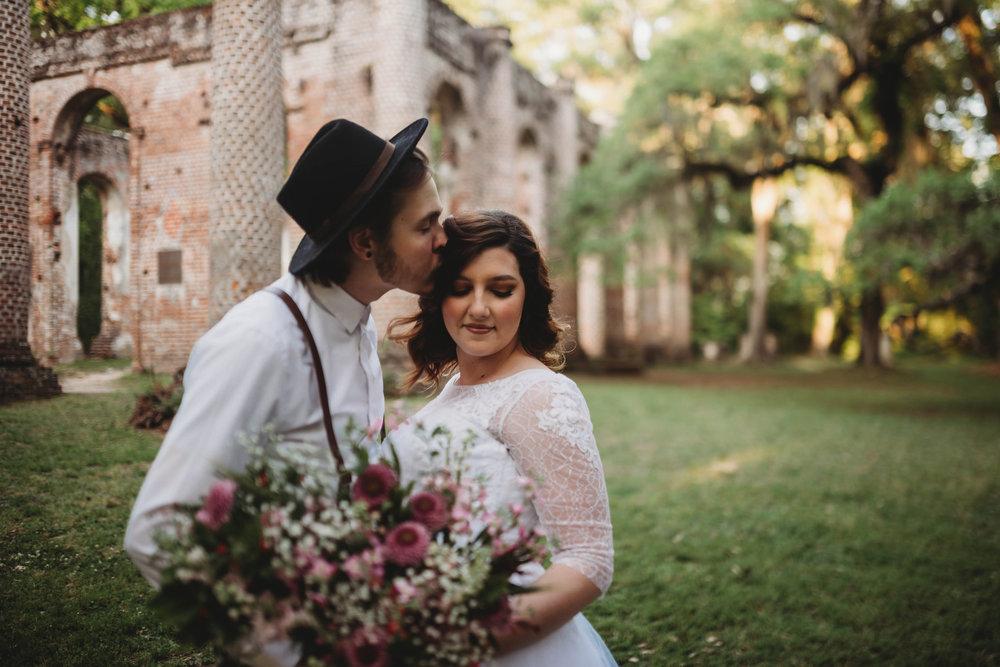 Romantic Ruins: Old Sheldon Church Wedding Styled Shoot | Palmetto State Weddings