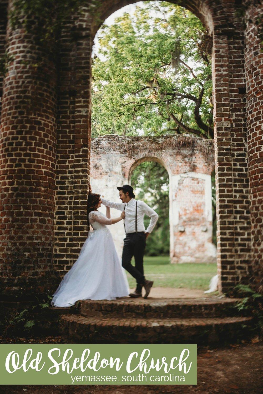 Romantic Ruins: Old Sheldon Church Wedding Styled Shoot | Palmetto State Weddings | Nikki Morgan Photography | Beaufort weddings | historic venues in South Carolina