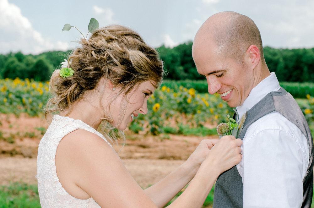 Sunflower Farm Wedding + Surprise Vow Renewal | Palmetto State Weddings