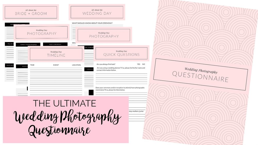 The Ultimate Wedding Photography Questionnaire + Free Download | Palmetto State Weddings