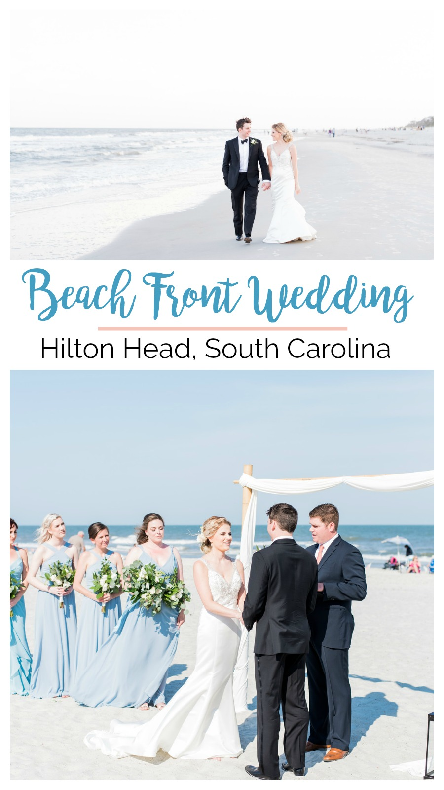 Jessica and Brian: Beach View Wedding at the Dunes House, Hilton Head Island, South Carolina | Palmetto State Weddings | beach front wedding | beach wedding inspiration