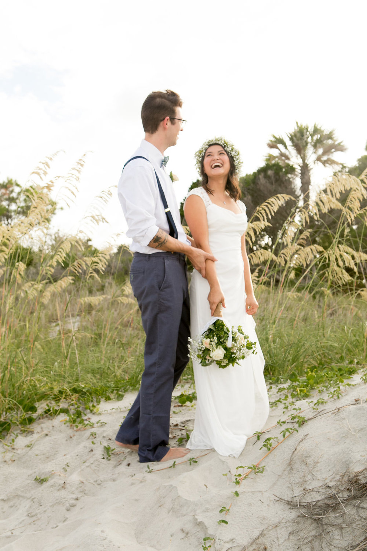 Small Beach Wedding Styled Shoot at Folly Beach | Palmetto State Weddings
