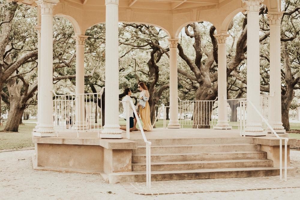 Kate + Joseph: Engagement at White Point Garden | Palmetto State Weddings