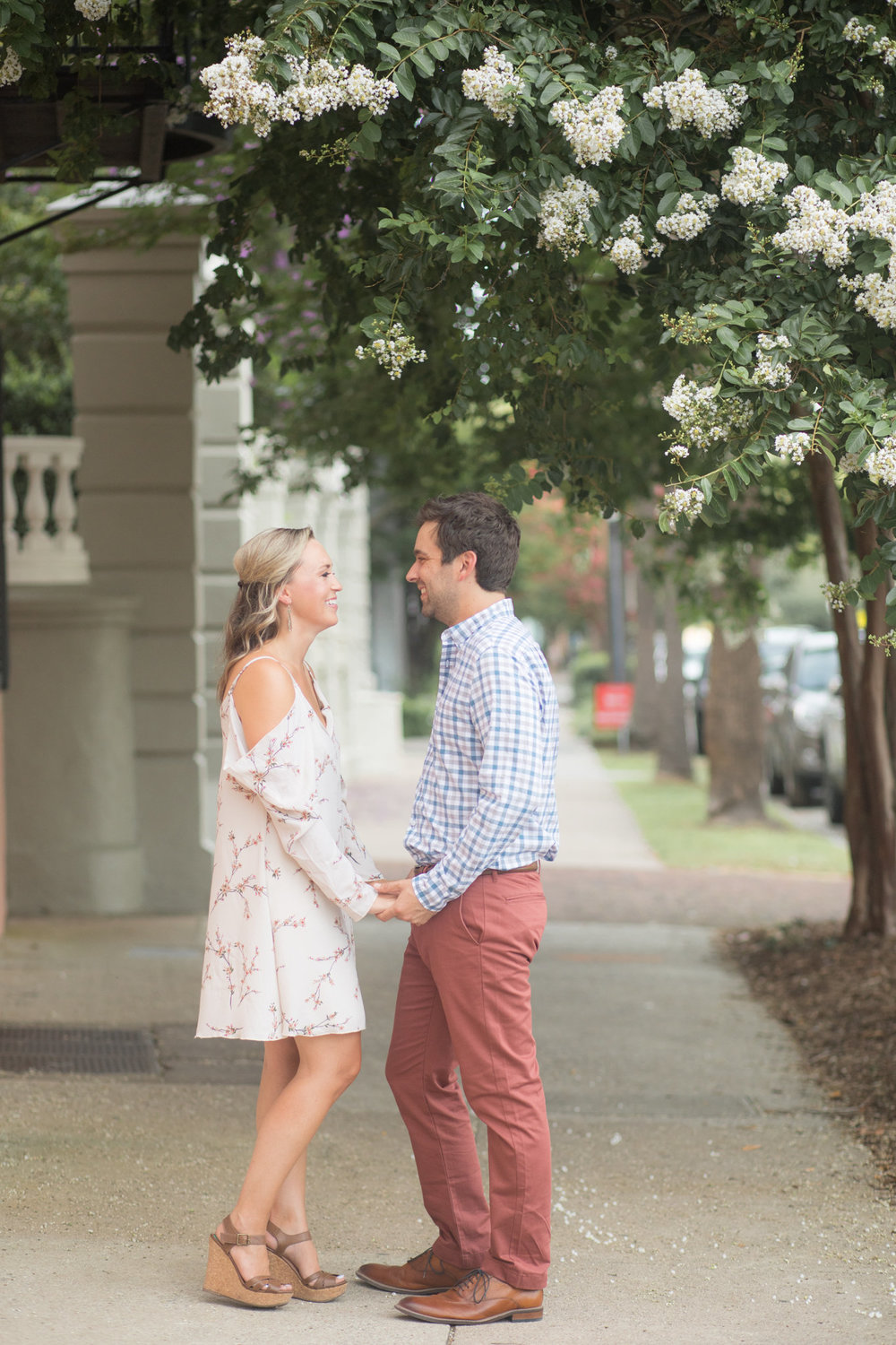 Kelsey + Chris: Downtown Charleston Engagement Session | Palmetto State Weddings
