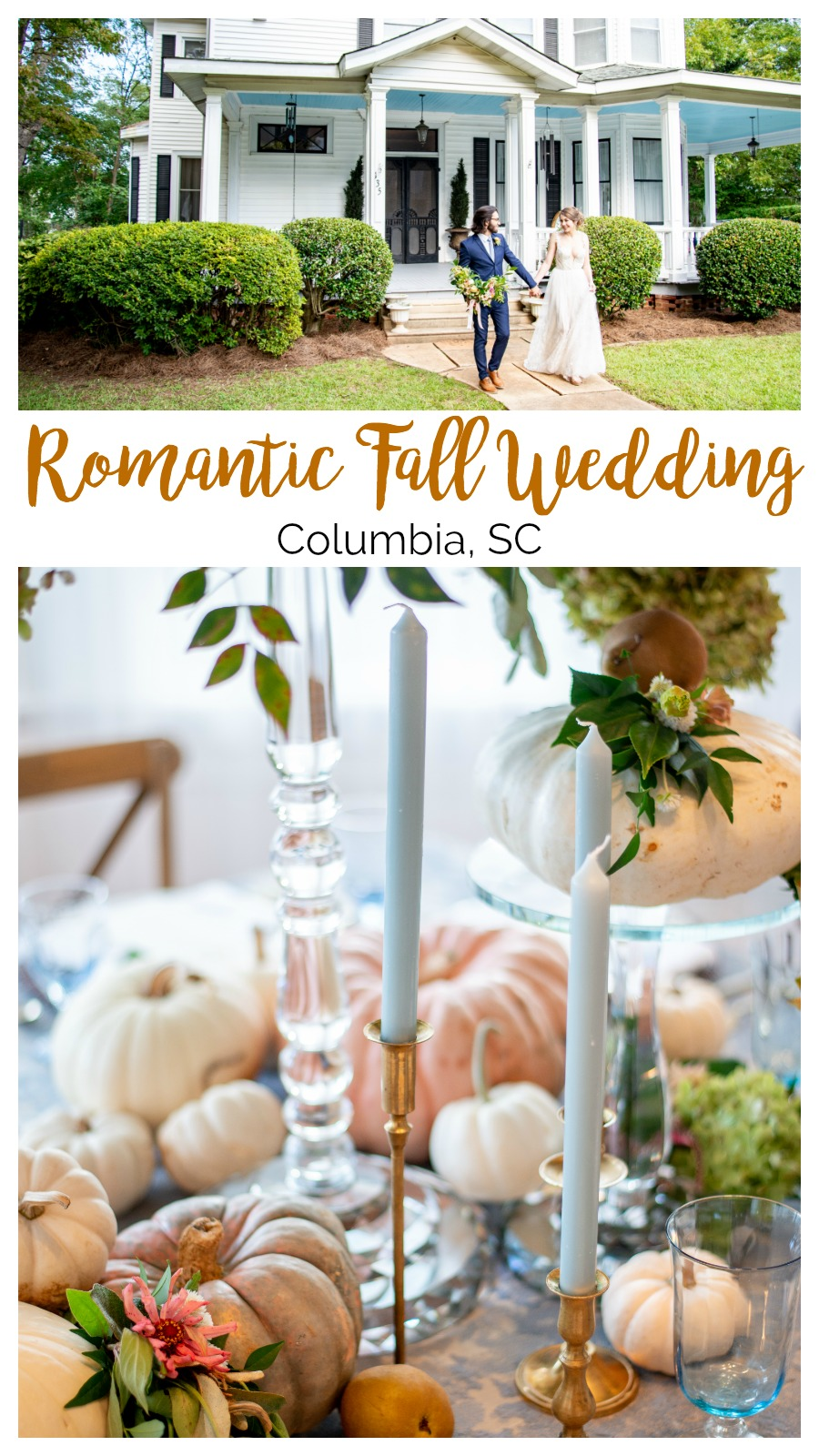Soft and Romantic Wedding Styled Shoot at the Thomas House and Garden | Palmetto State Weddings | Pamela Williams Photography | Columbia SC wedding | fall wedding inspiration