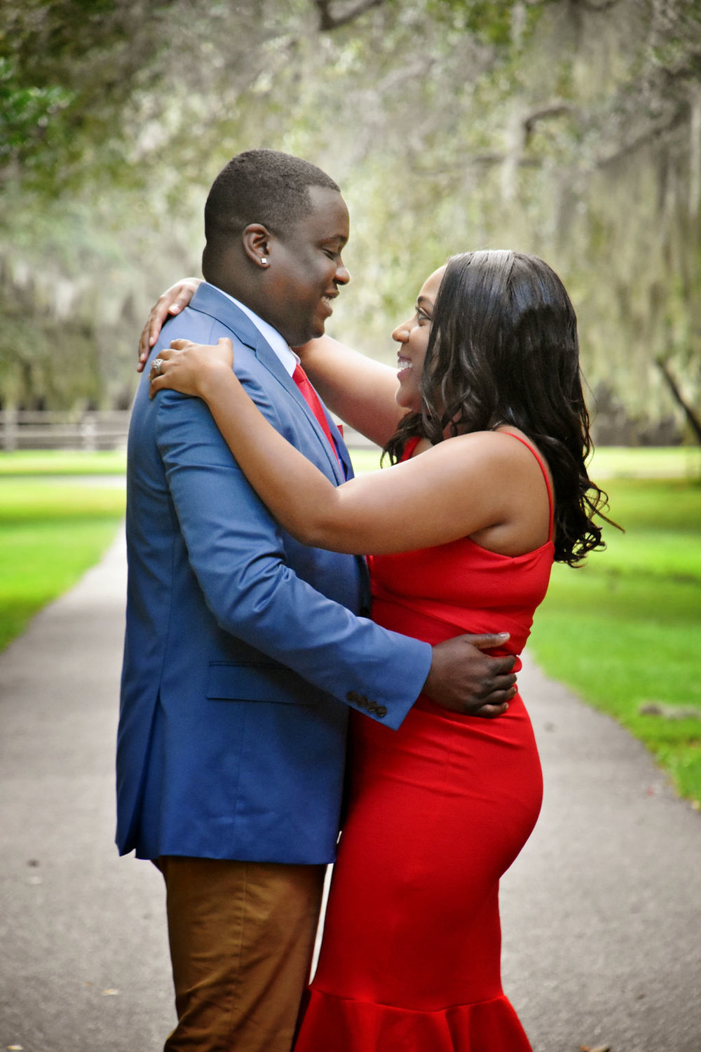 Afranika + Johnny: Garden Engagement at Charles Towne Landing | Palmetto State Weddings
