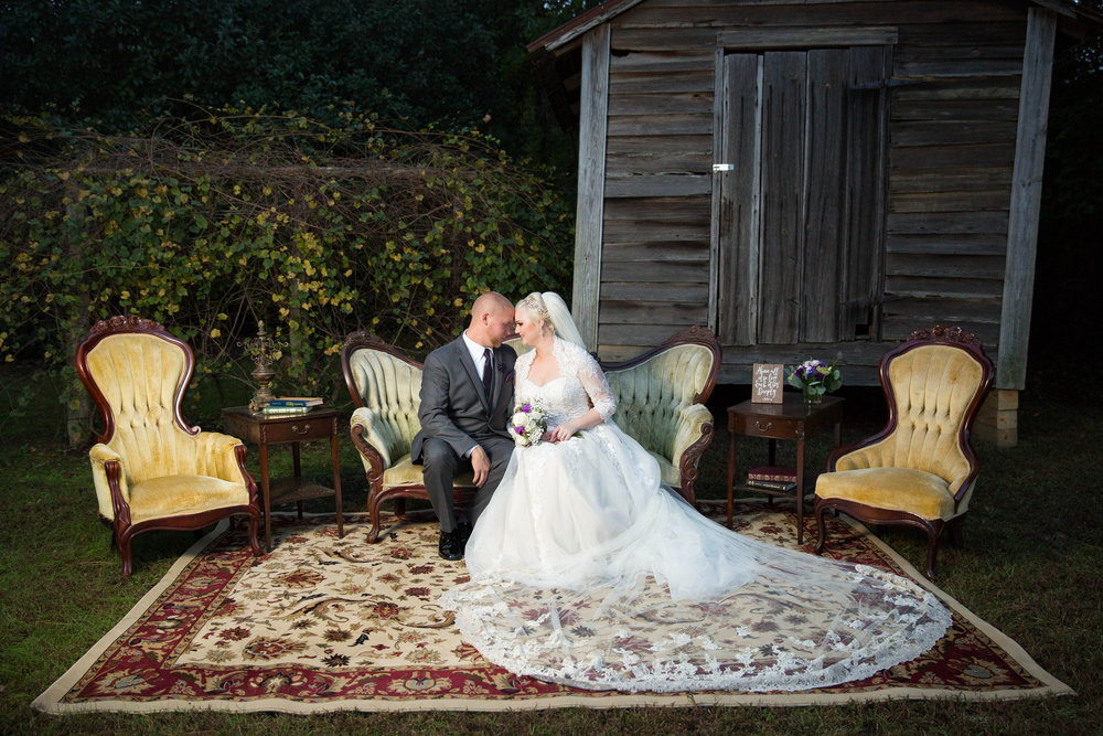 Faithe + Greg: Glam Purple Wedding at Southern Oaks, Gilbert, South Carolina | Palmetto State Weddings