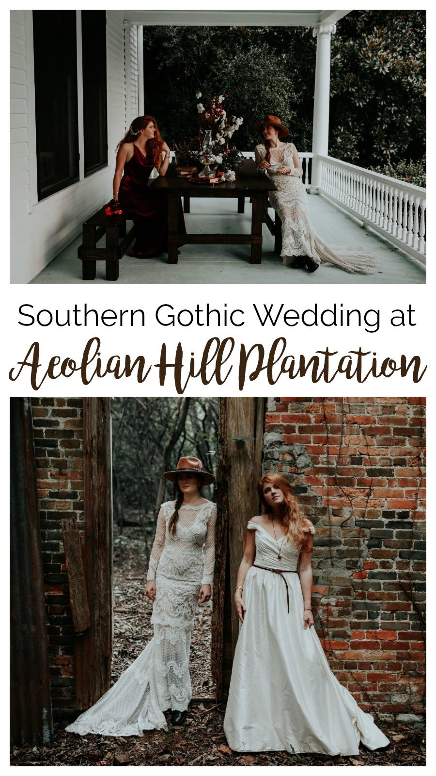 Southern Gothic Wedding Styled Shoot at Aeolian Hill Plantation | Palmetto State Weddings | Carrie Elizabeth Photography | romantic Southern wedding | grunge wedding | edgy wedding inspiration