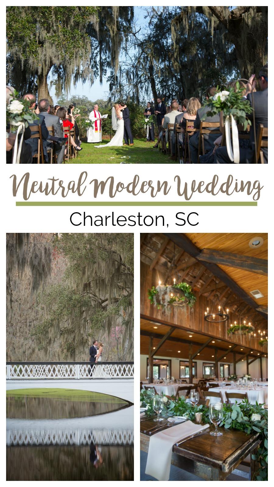 Nicole and Michael: Neutral Modern Wedding at Magnolia Plantation, Charleston, South Carolina | Palmetto State Weddings | MCG Photography | romantic wedding | plantation wedding | white and beige wedding