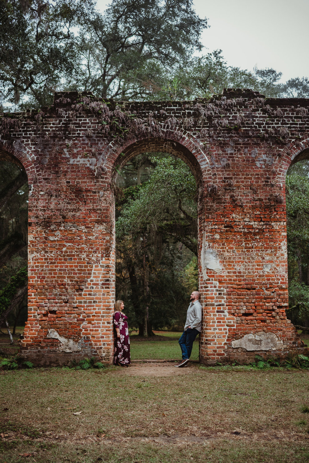 Kayla and Brian: Engagement at Old Sheldon Church Ruins | Palmetto State Weddings