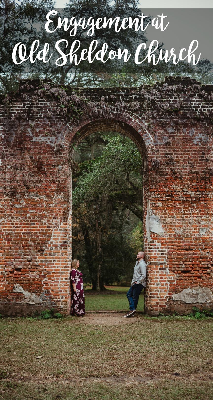 Kayla and Brian: Engagement at Old Sheldon Church Ruins, Yemassee, South Carolina | Palmetto State Weddings | unique wedding locations | Southern wedding inspiration