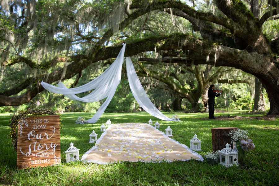 Christina + Keith: Intimate Outdoor Elopement at Magnolia Plantation   Palmetto State Weddings