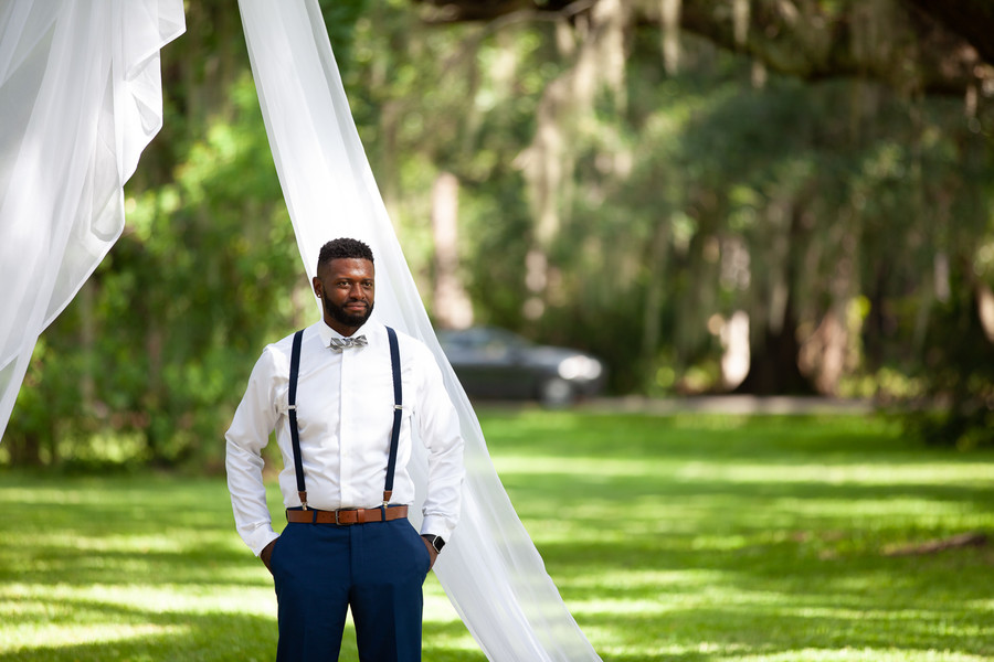 Christina + Keith: Intimate Outdoor Elopement at Magnolia Plantation | Palmetto State Weddings