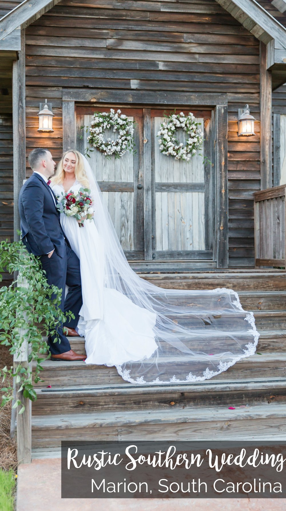 Charity and Kevin: Rustic Southern Wedding at Hidden Acres, Marion, South Carolina | Palmetto State Weddings | barn venues South Carolina | red and navy wedding | cotton themed wedding