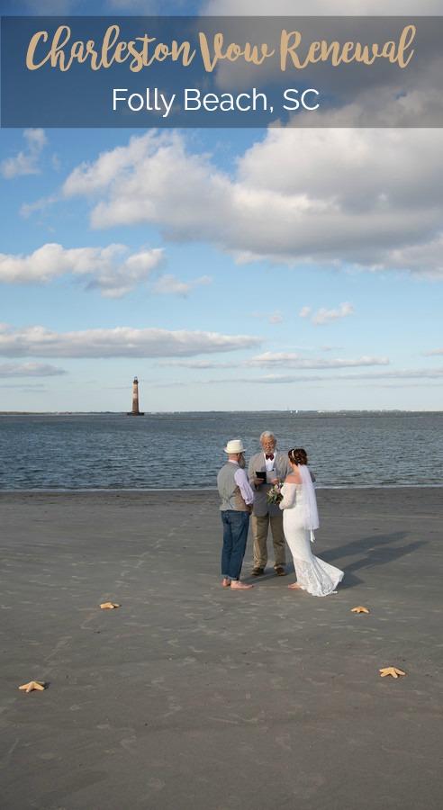 Jennifer and Scott: Charleston Vow Renewal on Folly Beach   Palmetto State Weddings   Kevin Maurice Photography   beach wedding Charleston   oceanfront beach ceremony   Folly Beach weddings