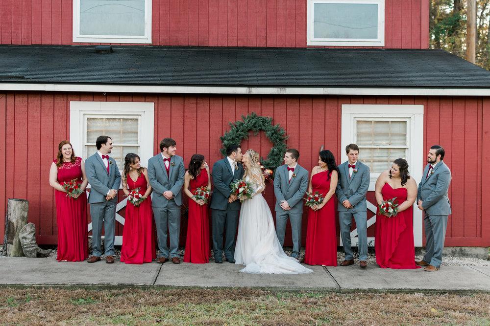 Kiley and Matthew: Elegant Christmas Wedding at Medicine Wind Farms   Palmetto State Weddings