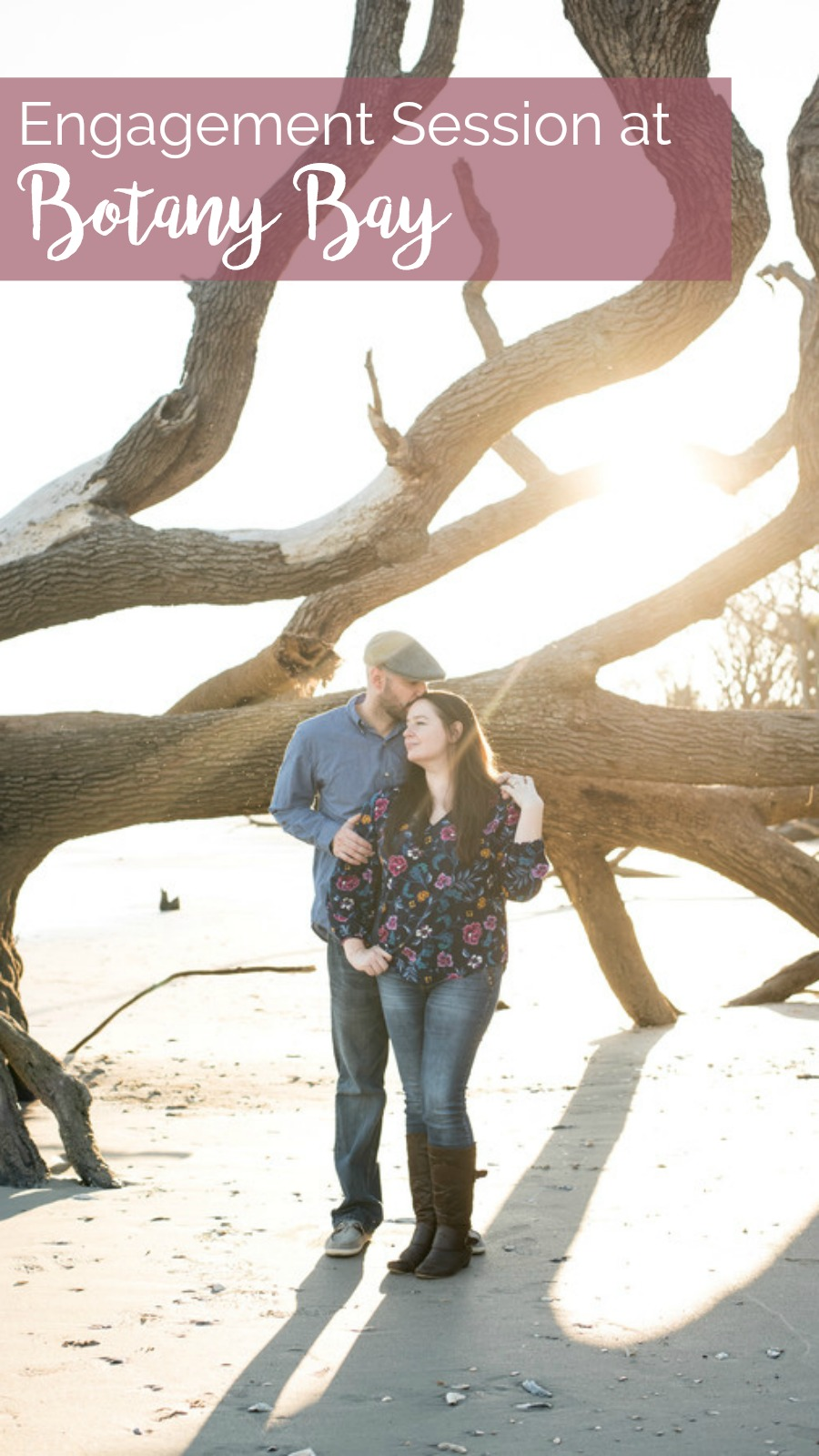 Tara and Travis: Sunset Engagement Session at Botany Bay, Edisto Island, South Carolina | Palmetto State Weddings | The Wedding Click Photography | beachfront weddings | beach engagements | driftwood beach | Southern engagement session