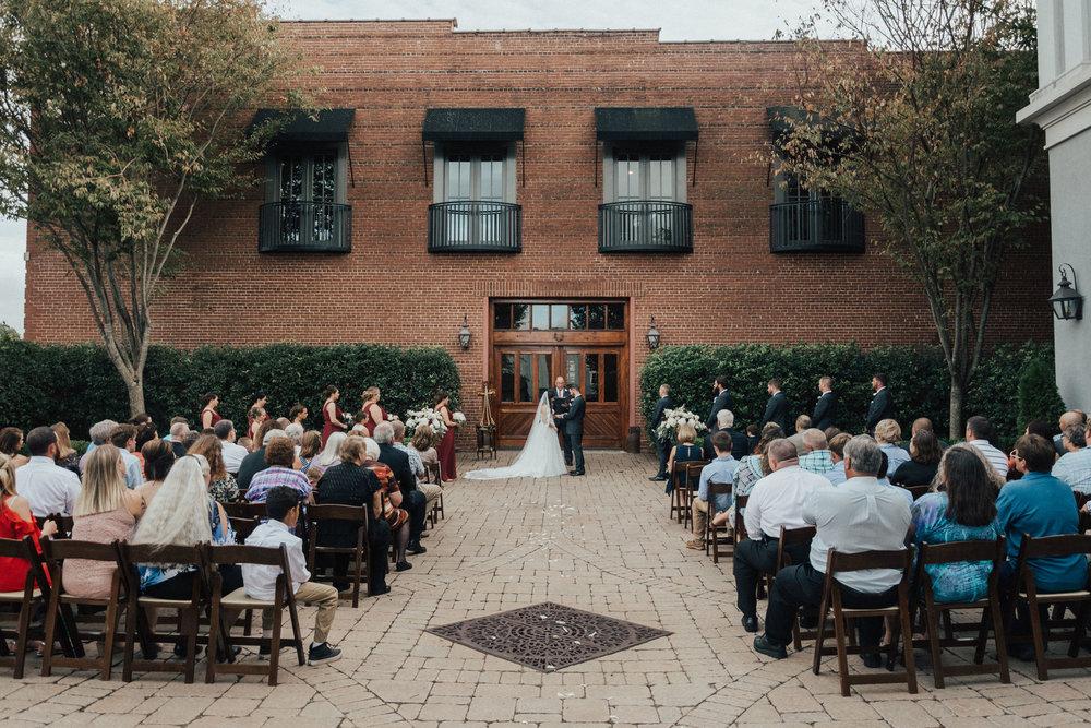 Valerie + Matt: Romantic Courtyard Ceremony at the Bleckley Inn | Palmetto State Weddings