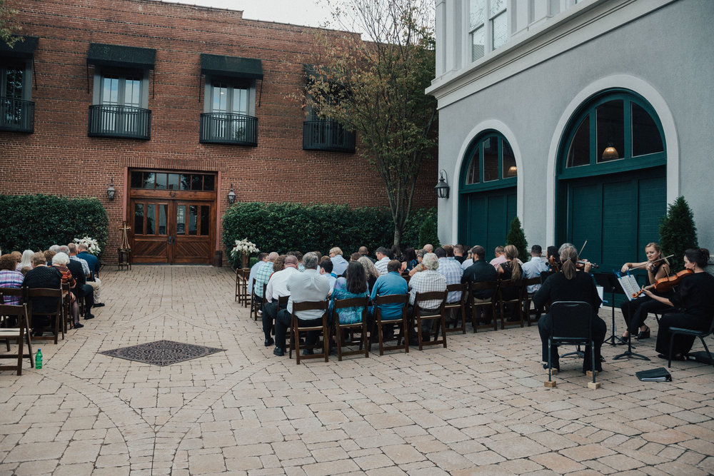 Valerie and Matt: Romantic Courtyard Ceremony at the Bleckley Inn | Palmetto State Weddings