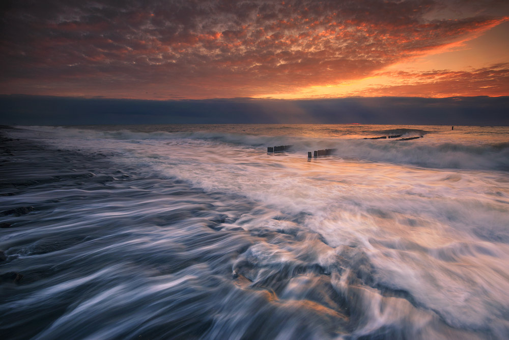 The wave breaker (Westkapelle, The Netherlands)