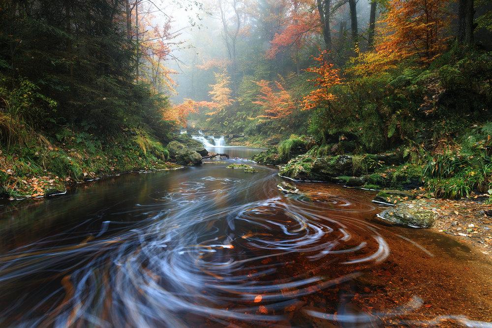 River patterns (Hoegne river Belgium)