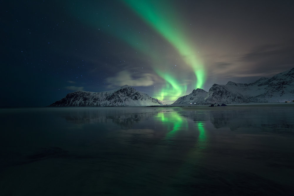 Weak northern lights : ISO 1600, f2.8, 30s