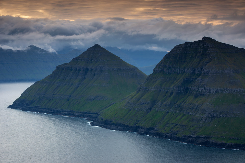 A fjord, Faroe Islands