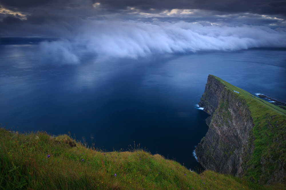 Incoming clouds, Faroe Islands
