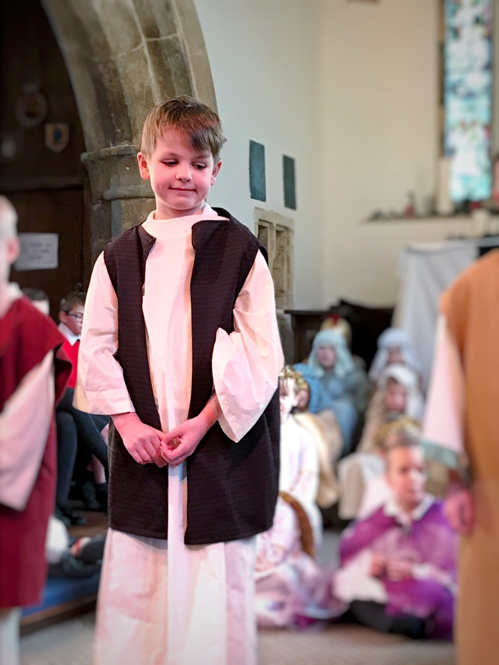 Reuben was an innkeeper at this year's school Nativity
