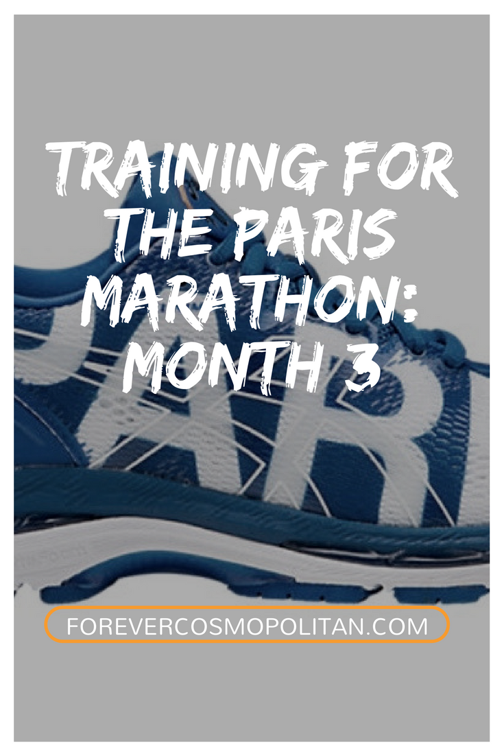 Training for the Paris Marathon Month 3
