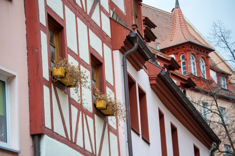 Make sure you look up, as well as ahead, when strolling Nuremberg's beautiful streets!