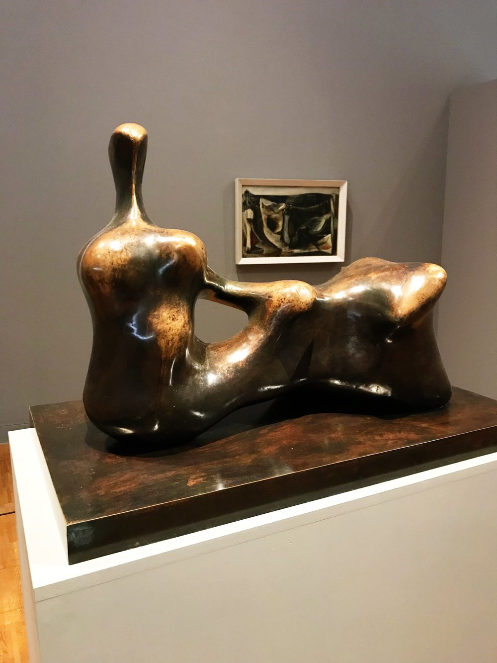 Henry Moore: 'Working Model for Reclining Figure: Hand' - Bronze, 1978 @ The Collection, Lincoln