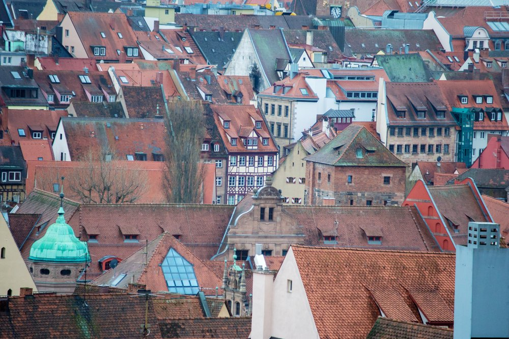 Rooftops of Nuremberg, from the Imperial Castle
