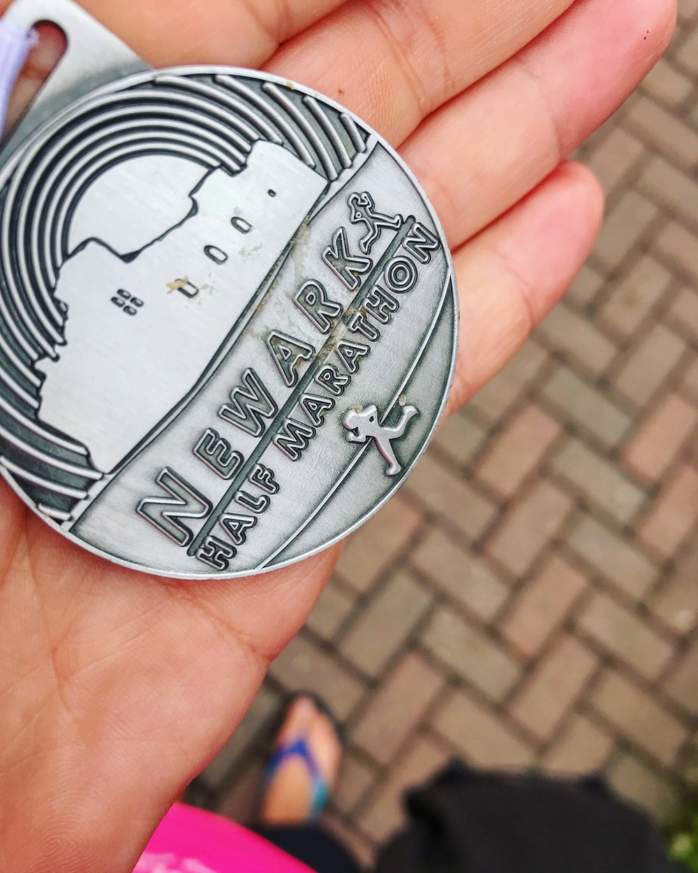 No idea why it is so cruddy, but hello medal!